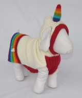 <h5>D010 RAINBOW UNICORN DOG SWEATE</h5>